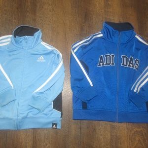 Adidas toddler boy size 2t blue zip up sweater